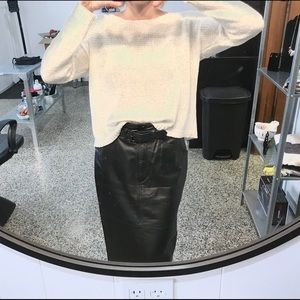 Black Leather Skirt Sexy Unique